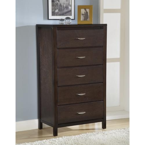 Domusindo Tapered Leg Five-drawer Chest with Half Moon Pull