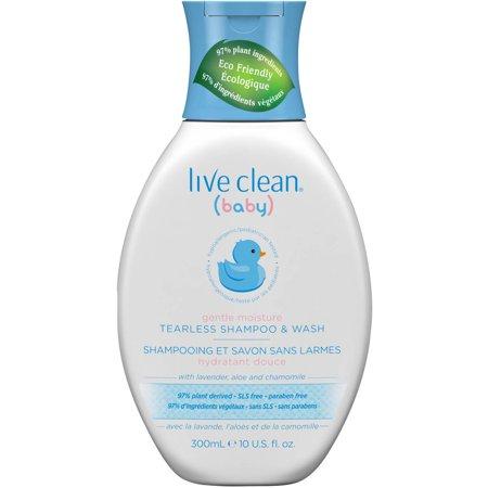 Live Clean Baby Gentle Moisture Tearless Shampoo   Wash  10 Fl Oz