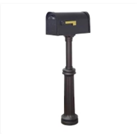 Special Lite Products Classic Curbside Two Door Mailbox and Bradford Mailbox Post