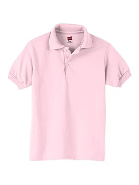 Hanes Boys School Uniform Lightweight Comfortblend EcoSmart Jersey Polo (Little Boys & Big Boys)
