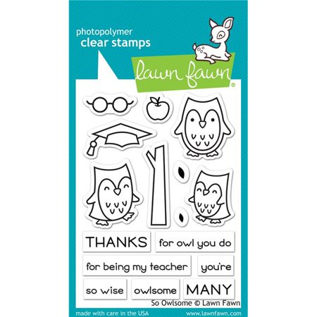 So Owlsome Clear Stamps - Lawn Fawn ()