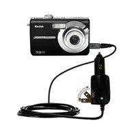 Intelligent Dual Purpose DC Vehicle and AC Home Wall Charger suitable for the Kodak M753 - Two critical functions, one unique charger - Uses Gomadic B