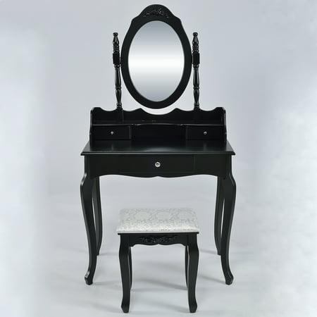Belleze Vanity Set Vintage Style Table Makeup Desk With