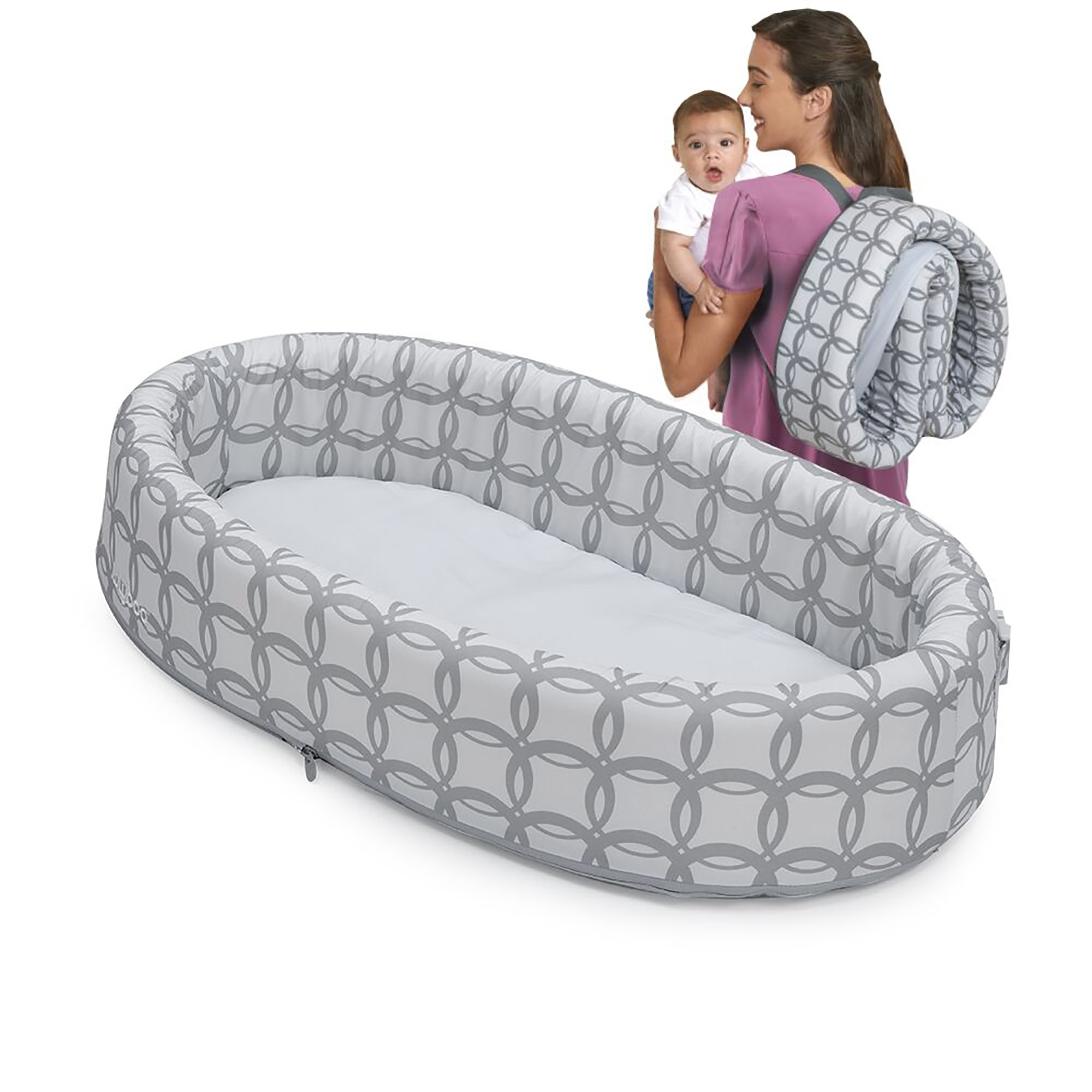 LulyBoo Classic Travel Infant Bed - Foldable Cozy Baby Bassinet - Weighs Less Than 2 Lbs