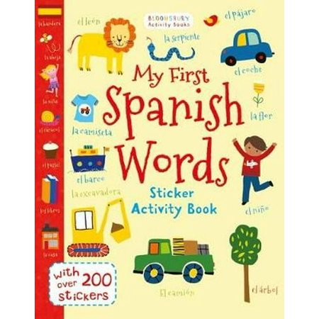 MY FIRST SPANISH WORDS STICKER ACTIVITY