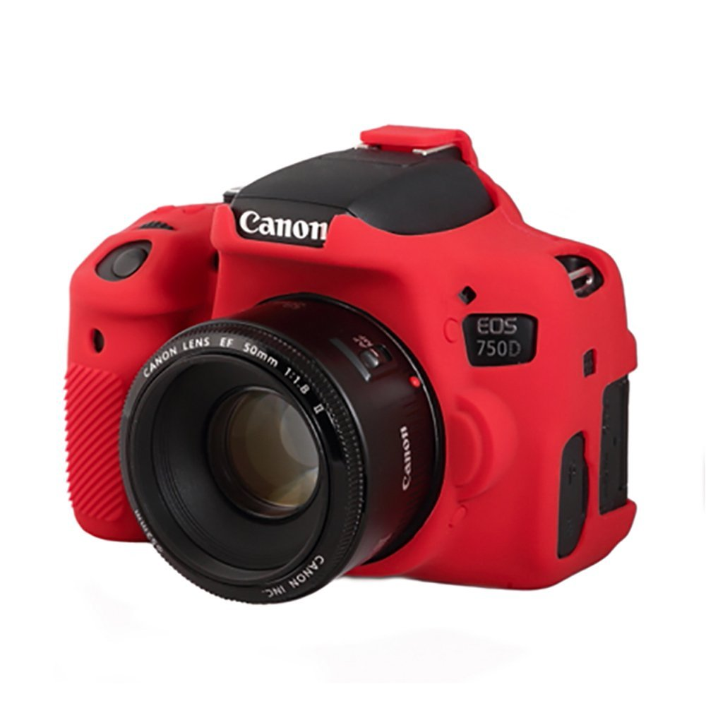ea ecc750dr case for canon 750d t6i red protection against bumps