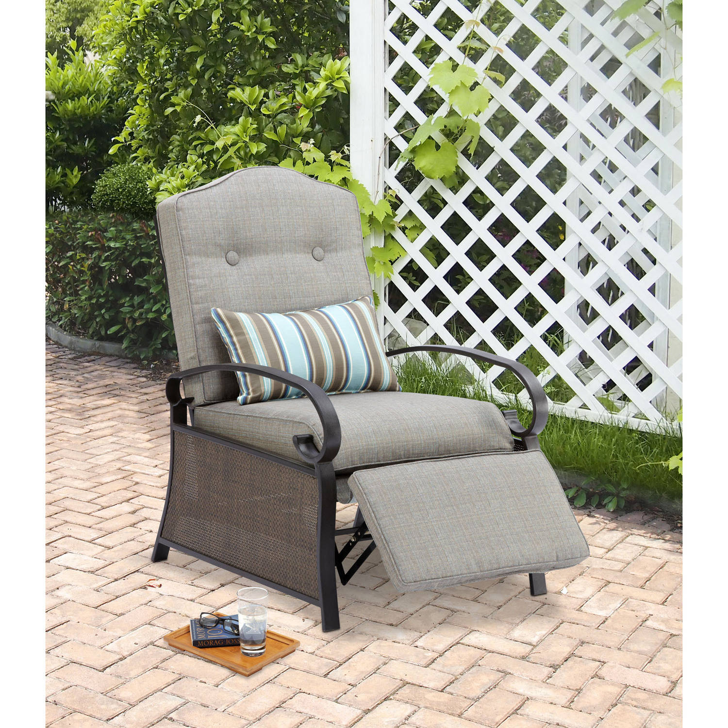 Mainstays Outdoor Recliner, Ashwood