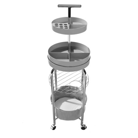 Design Accents 4 Tier Makeup Organizer Cart With Wheels Multi Use Cart Bathroom Vanity Organizer
