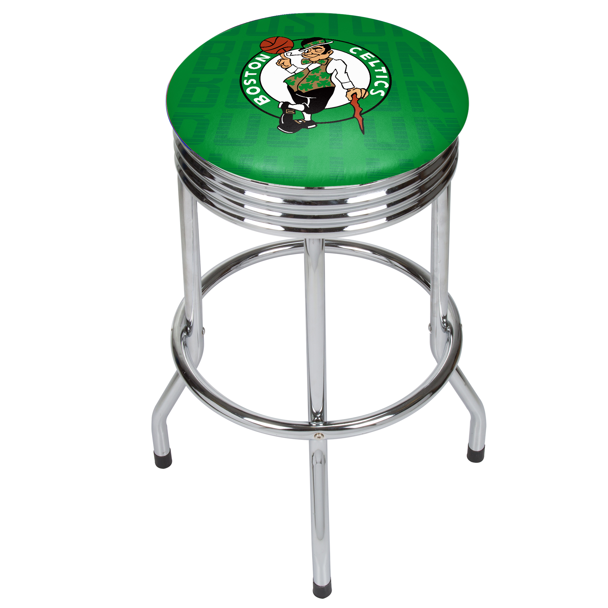 NBA Chrome Ribbed Bar Stool - City - Boston Celtics