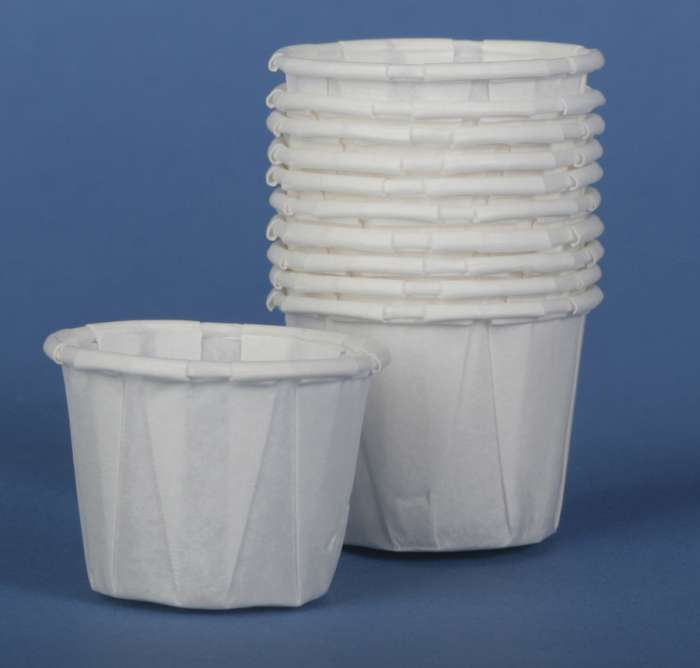Disposable Paper Souffle Cups,White,1.000 OZ - 5000 Each / Case (1 Case)