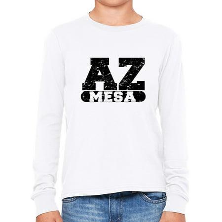 Mesa, Arizona AZ Classic City State Sign Boy's Long Sleeve - Party City Mesa Az