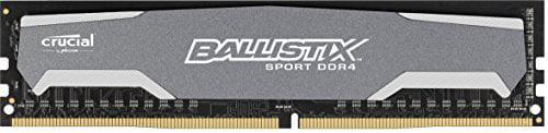 Crucial Ballistix Sport 8gb Ddr4 Sdram Memory Module - 8 Gb [1 X 8 Gb] - Ddr4 Sdram - 2400 Mhz Ddr4-2400/pc4-19200 - 1.20 V - Unbuffered - 288-pin - Dimm (157152)