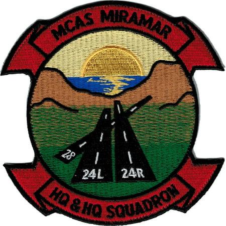 Eagle Crest MCAS Miramar HQ & HQ Squadron 2-Piece (H&L) Velcro Attachment Patch (Squadron 4 Patch)