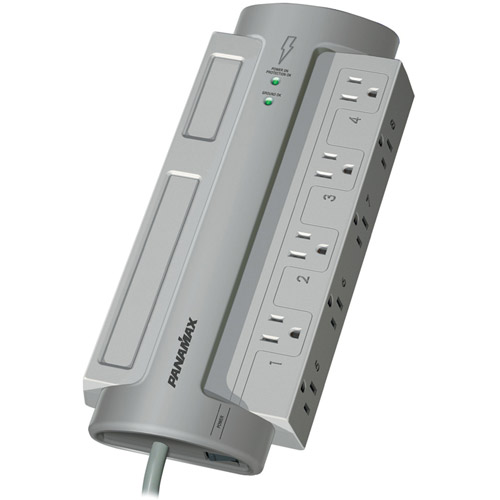 Panamax PM8-EX 8-Outlet PowerMax Surge Protector (Without Satellite and CATV Protection)
