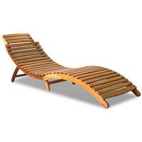 Yosoo Sun Lounger Solid Acacia Wood