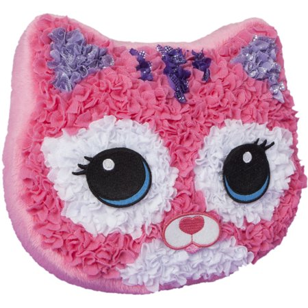 Plushcraft Fabric By Number Kit Purr Fect Pillow