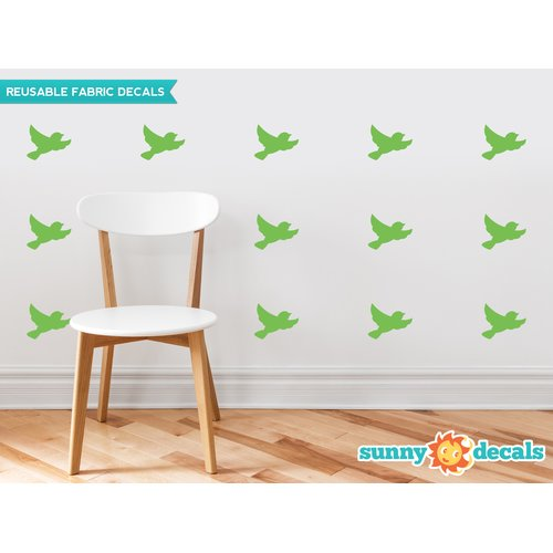 Sunny Decals Birds Fabric Wall Decal (Set of 16)