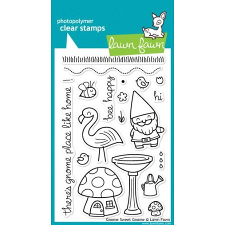 Gnome Sweet Gnome Clear Stamp Set ()Scrapbooking and Card Making By Lawn Fawn (000 Fawn)