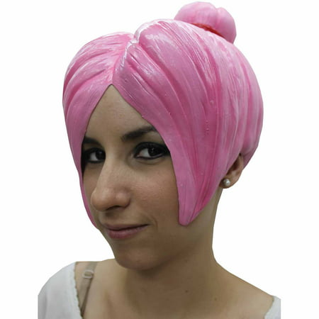 Latex Wig (Pink Anime Wig 4 Latex Adult Halloween)