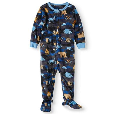 Toddler Boys' Microfleece Blanket Sleeper Pajamas