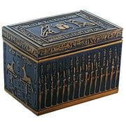 Egyptian Themed Hieroglyphs Deities and Gods Black and Gold Jewelry Box