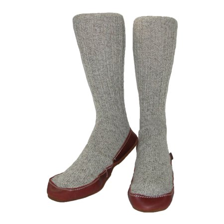 - Acorn  Wool Big and Tall Extended Sock Slippers