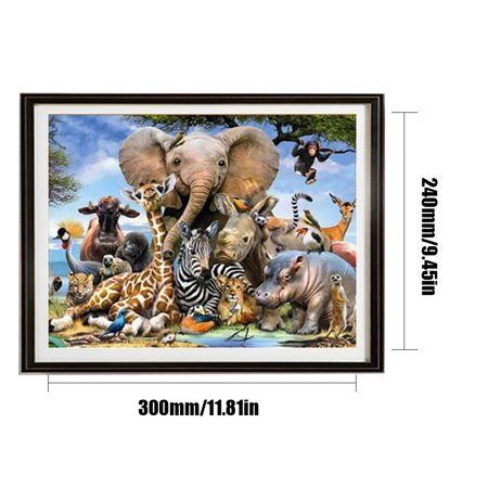 5D Diamond Painting Cross Stitch Home Decoration Round Diamonds DIY Embroidery Paints Animal Drawing - image 7 of 7
