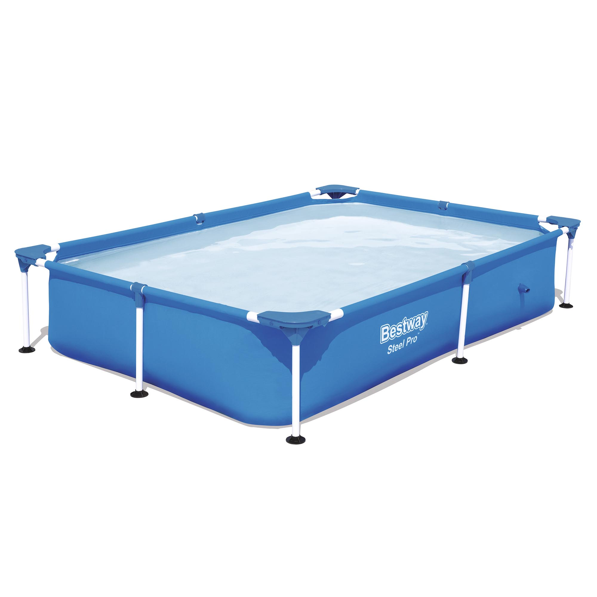 "Bestway Steel Pro 87 x 59 x 17"" Rectangular Frame Above Ground Swimming Pool by Bestway"