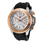 14018Sm-Sr-02S Scorpion Chronograph Black Silicone White Dial Stainless Steel Watch