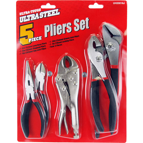 Ultra Steel 5 Piece Plier Set