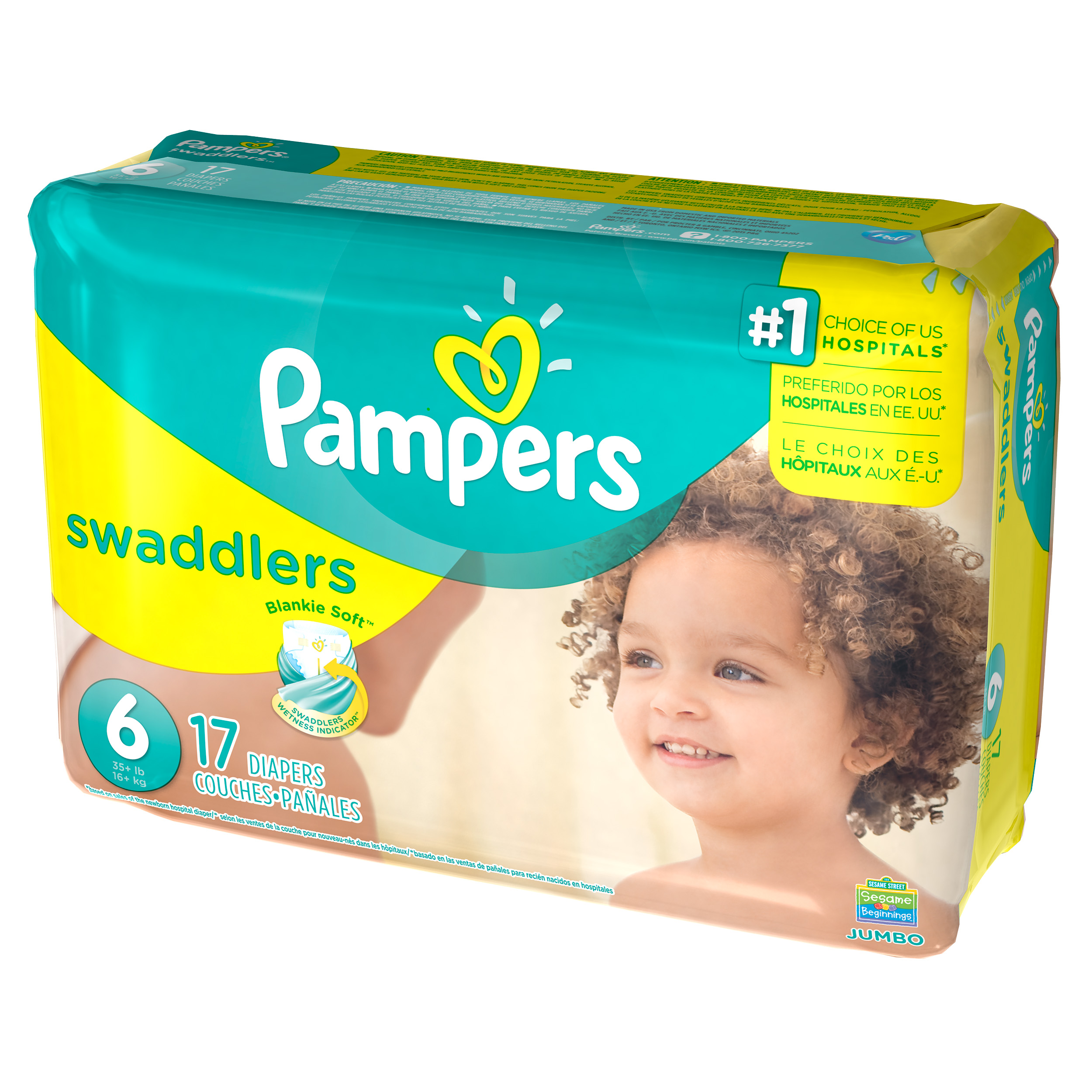Pampers Swaddlers Diapers Size 6 17 count