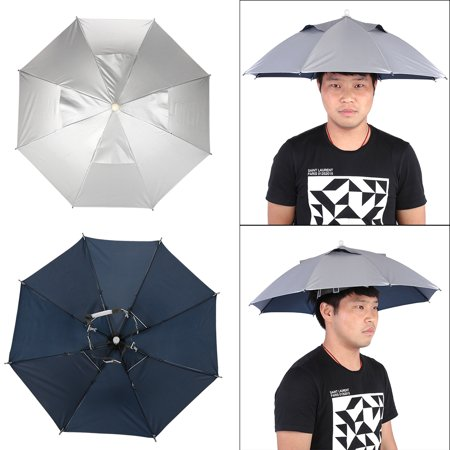 WALFRONT Outdoor Handfree Umbrella Cap Lightweight Fishing Hat Waterproof UV Protection, Summer Sun Umbrella Hat, Outdoor Headwear, Fishing Cap, Handfree Umbrella Anti Uv Sun Umbrella