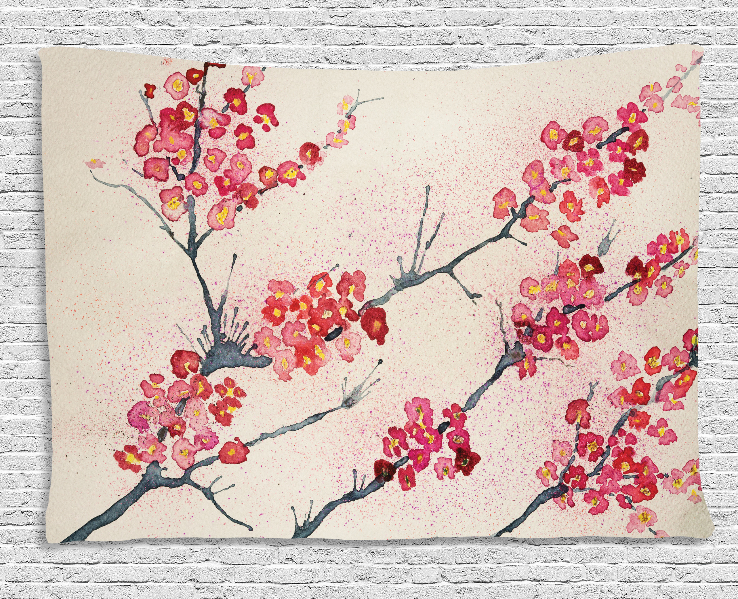 Curious asian style cherry blossom picuture authoritative message