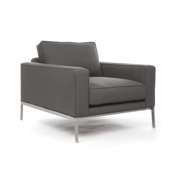 "Eclipse Home Collection Donovan Chair Galveston Sandlewood No Nailheads 37"" L x 40"" W x 30"" H by"