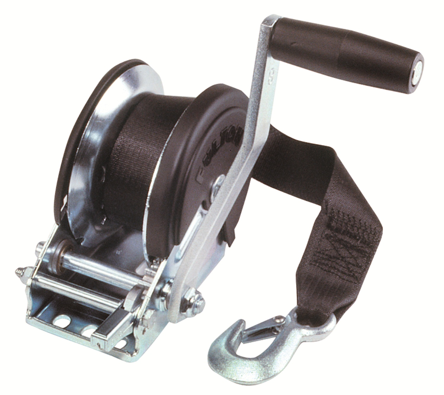 Fulton T1500ZC101 Trailer Winch; Incl. 20 ft. Strap And Cover; Single-Speed; 1500 lb. Capacity; by Fulton