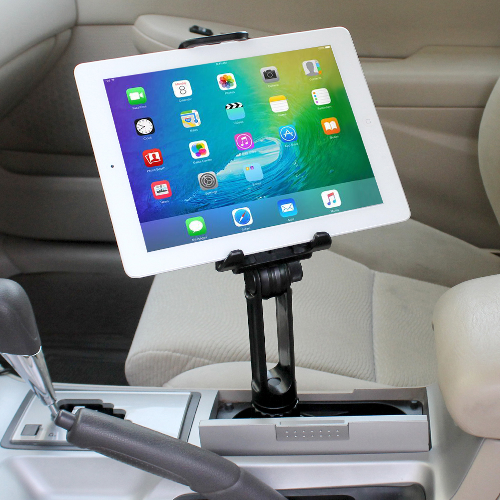 iKross 2-in-1 Car Vehicle Cup Mount Holder Car Kit for 7in-10.5inch ...