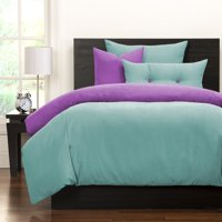 Crayola  Robin's Egg Blue and Vivid Violet Reversible 6-piece Duvet Set