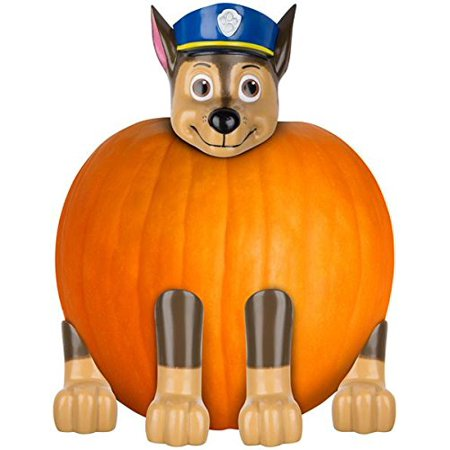 Paw Patrol Chase the Police Pup Pumpkin Push-In Kit Halloween Prop (Halloween Pumpkins To Carve)
