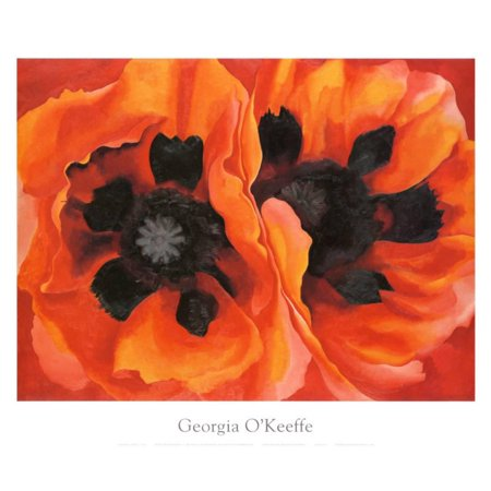 Oriental Poppies, 1928 Art Print By Georgia O'Keeffe - 30x25 (Oriental Art Supply)
