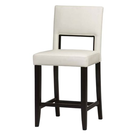 Linon Vega Counter Stool White Pu 24 Inch Seat Height