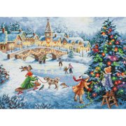 Gold Collection Winter Celebration Counted Cross Stitch Kit, 16 x 12 , 16-Count