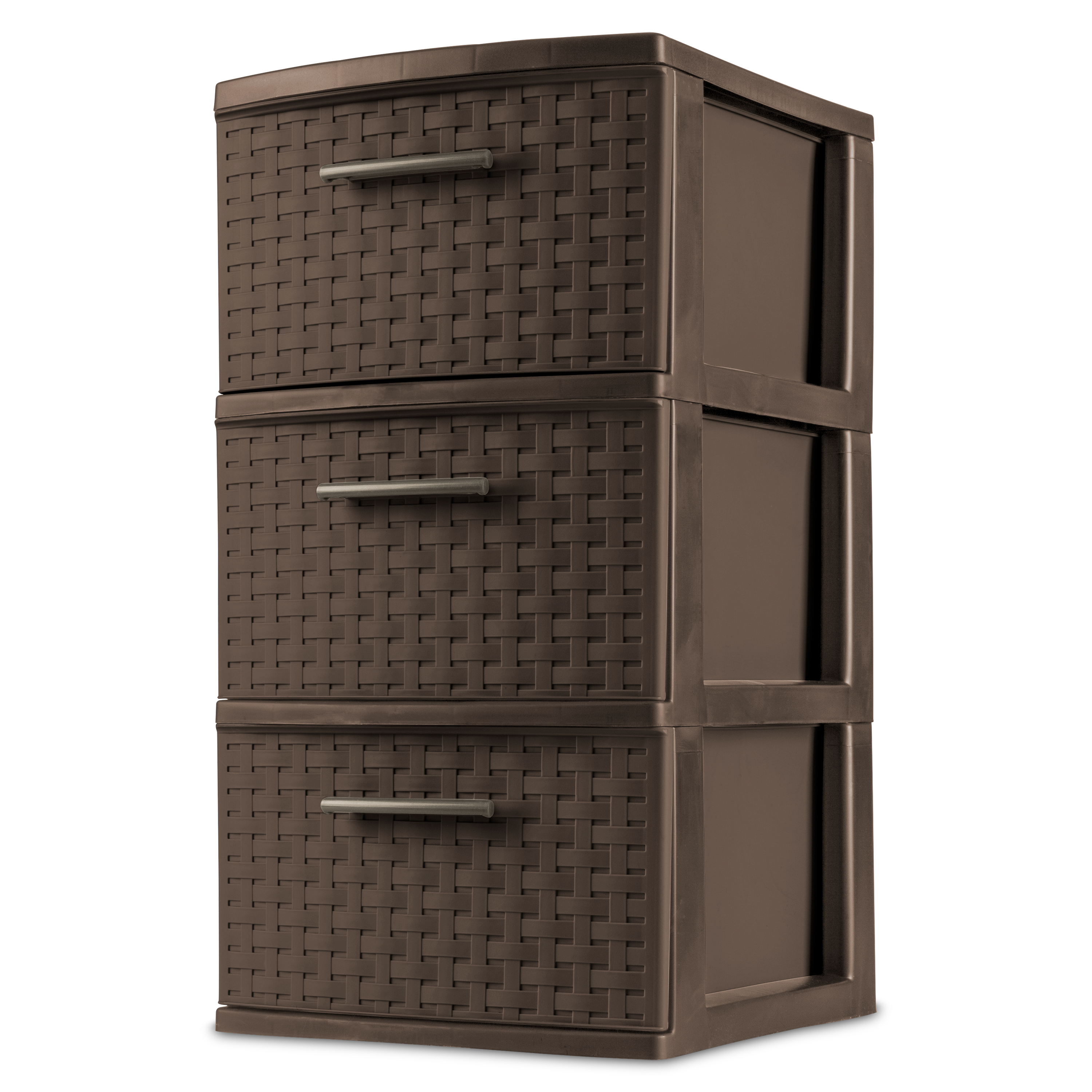 Sterilite 3 Drawer Weave Tower, Espresso