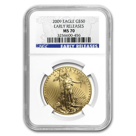 Gold Eagle Ms70 Early Release (2009 1 oz Gold American Eagle MS-70 NGC (Early Releases) )