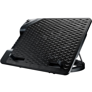 "Cooler Master Notepal ERGOSTAND III - Notebook fan with 4 ports USB hub - 17"" - 230 mm - black"