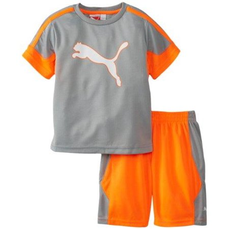 Puma Toddlers Soccer Outline Set - Jersey Shirt and Shorts Combo - Limestone