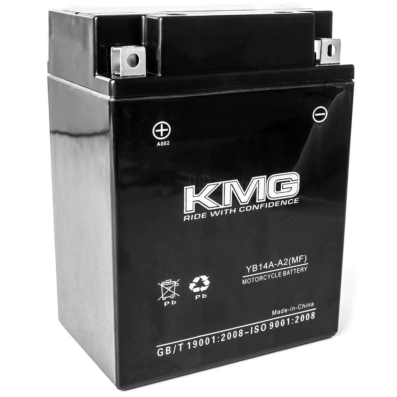 KMG 12 Volts 14Ah Replacement Battery for Kawasaki KAF400, Mule 600, 610, 610XC 2005-2016 - image 3 de 3
