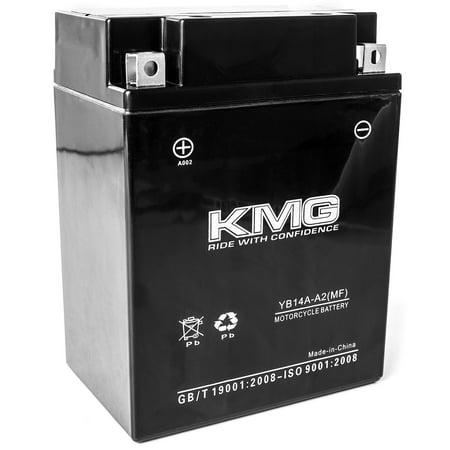 KMG 12 Volts 14Ah Replacement Battery for Kawasaki KVF400-C Prairie 400, 4x4 1999-2002 - image 3 de 3