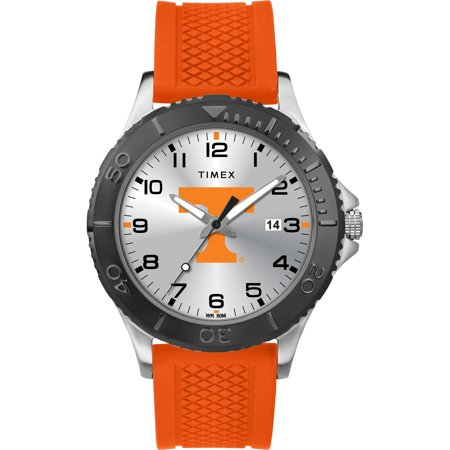 Timex - NCAA Tribute Collection Gamer Black Men's Watch, University of Tennessee Volunteers