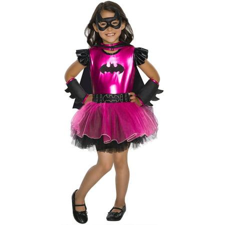 Batgirl Hot Pink Girls Deluxe Tutu Dress Halloween Costume (Hot Halloween Girl)