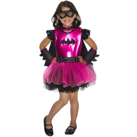 Batgirl Hot Pink Girls Deluxe Tutu Dress Halloween Costume